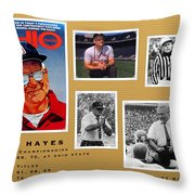Woody Hayes Legen Five Panel Throw Pillow