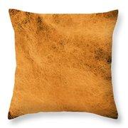 Wool Orange Throw Pillow
