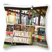Wool Room 1 Throw Pillow