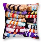 Wool Socks Throw Pillow