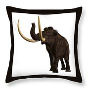 Woolly Mammoth Profile Throw Pillow