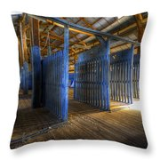 Woolshed Blues Throw Pillow