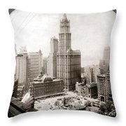 Woolworth Building, 1920s Throw Pillow by Granger