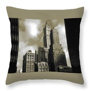 Old New York Photo - Historic Woolworth Building Throw Pillow