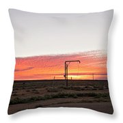 Woomera Sunset Throw Pillow