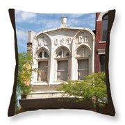 Wooster Building Throw Pillow