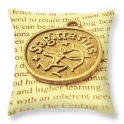 Word Art Of Sagittarius Throw Pillow