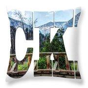 Word Art...the Rockies Throw Pillow