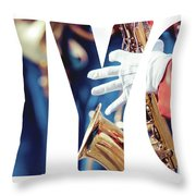 Word Music Red Parade Throw Pillow