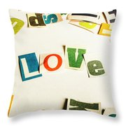 Word Of Love Throw Pillow