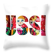 Word Russia Over Traditional Arts Throw Pillow