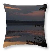 Worden's Pond Sunrise 2 Throw Pillow