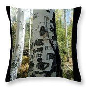 Words Written In The Trees 1 Throw Pillow