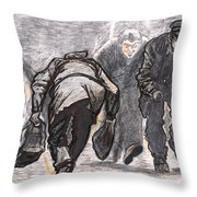 Work A Day Way Throw Pillow