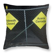 Work Ahead Throw Pillow