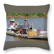 Work Barge Throw Pillow