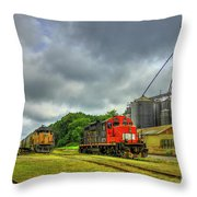 Work Horse Trains 7 Madison Georgia Locomotive Art Throw Pillow