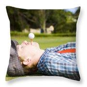 Work Life Balance Throw Pillow