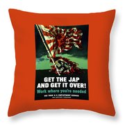 Work Where You're Needed -- Ww2 Throw Pillow