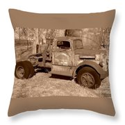 Worked In The Oil Fields Throw Pillow