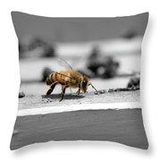 Worker Bee Throw Pillow