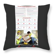workerscompensationlawyer Infograpics Throw Pillow