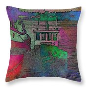 Workhorse In The Mist Throw Pillow