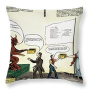 Workie Cartoon, 1829 Throw Pillow