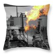 Workin Throw Pillow