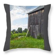 Working Barn Throw Pillow