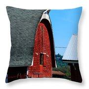 Working Barn Throw Pillow