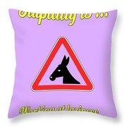 Working Bigstock Donkey 171252860 Throw Pillow