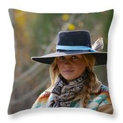 Working Cowgirl Throw Pillow