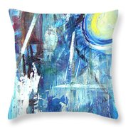 Working Day And Night Throw Pillow