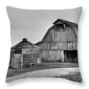 Working Farm Barn And Storage Bin Throw Pillow