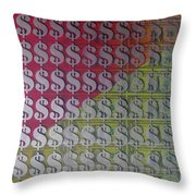 Working For The Yankee Dollar Throw Pillow