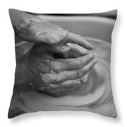 Working Hands Throw Pillow
