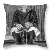 Working Hands Bw Throw Pillow