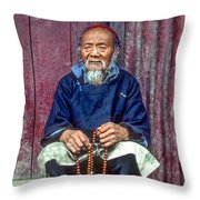 Working Hands Throw Pillow