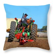 Working His Plow  Throw Pillow