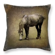 Working Horse Throw Pillow