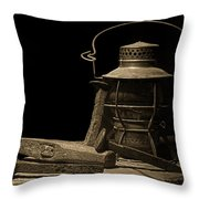 Working On The Railroad Still Life Throw Pillow by Tom Mc Nemar