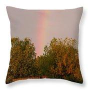 Working Rainbow Throw Pillow