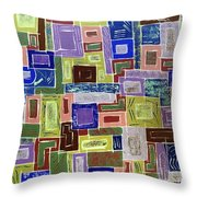 Working The City Throw Pillow