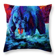 Working The Shallows Throw Pillow