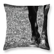 Working Trot Throw Pillow