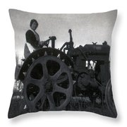 Working Woman Throw Pillow