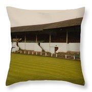 Workington - Borough Park - Main Stand 2 - 1970s Throw Pillow