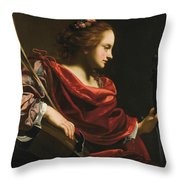 Workshop Of Simon Vouet Throw Pillow