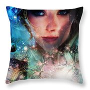 World Acording To Sellah Wildfury Throw Pillow